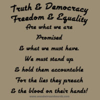 Truth & Democracy Chorus - Adult - Dark Text Design