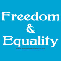 Freedom & Equality - Adult Hoodie Design