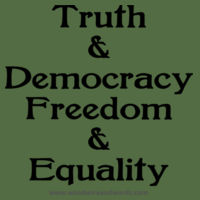 Truth & Democracy, Freedom & Equality - Adult - Dark Text Design
