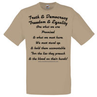 Truth & Democracy Chorus - Adult - Dark Text Thumbnail