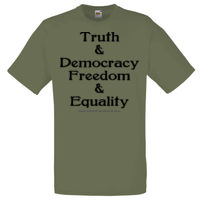 Truth & Democracy, Freedom & Equality - Adult - Dark Text Thumbnail